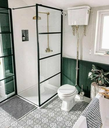 douche avec verrières